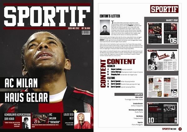 Sports Magazine Design Layout on Behance