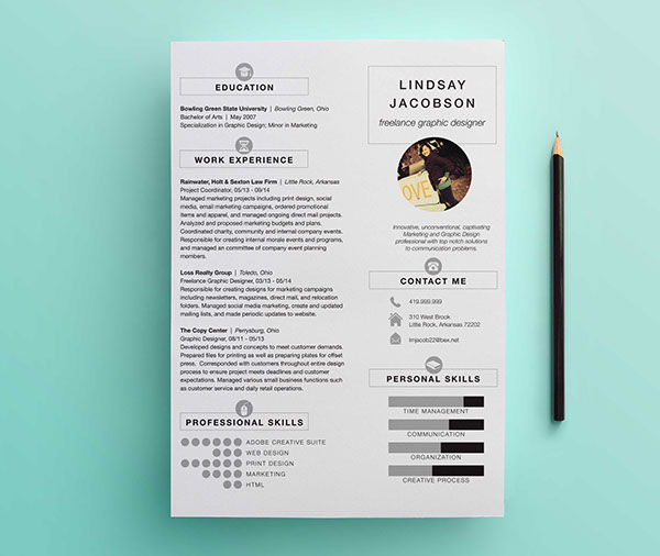 Graphic Designer Resume Template on Behance - Simple Graphic Design Resume
