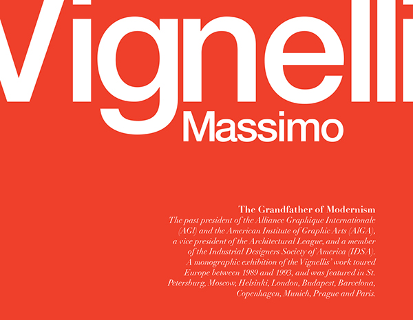 Massimo Vignelli Brochure Cover on Behance - american institute of graphic arts