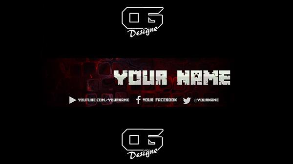 Minecraft YT Banner Template on Behance - yt banner template