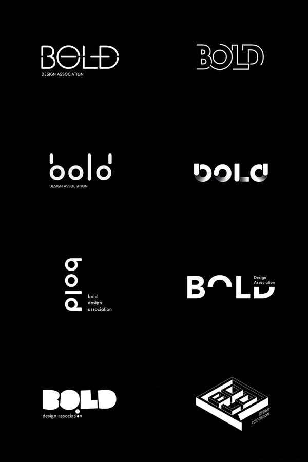 logo proposals for Bold Design on Behance