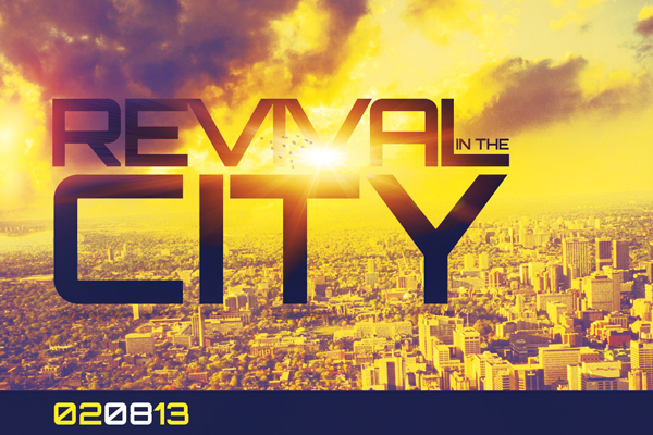 Revival in the City Church Flyer Template on Behance