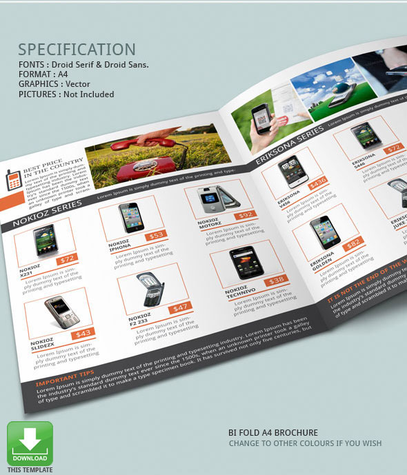 Mobile Phones Brochure Template on Behance