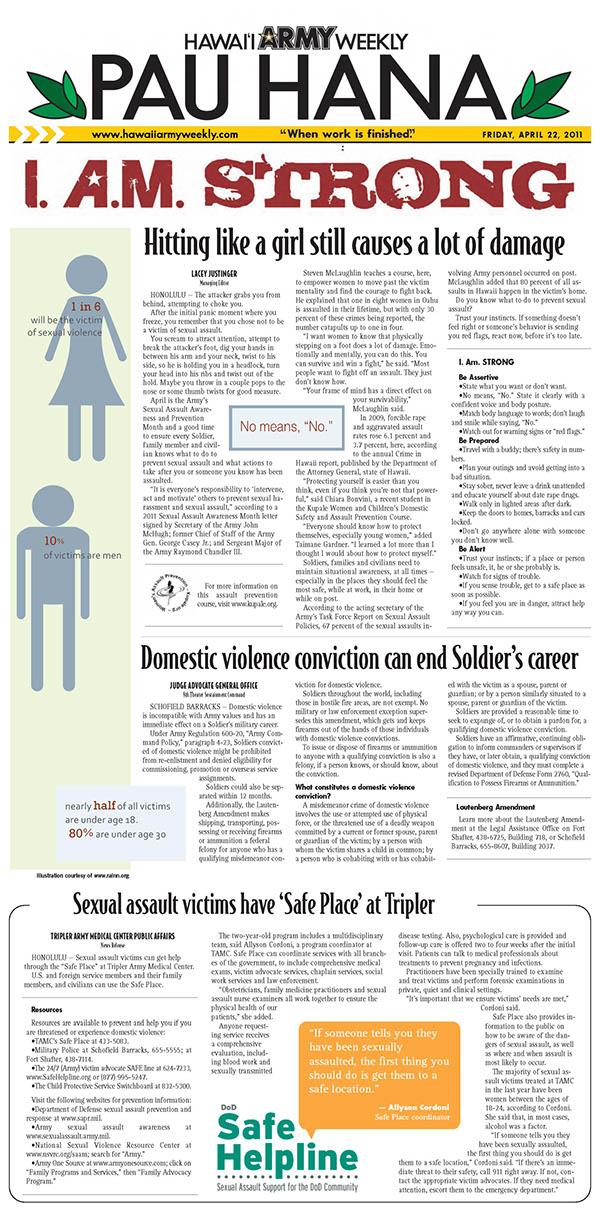Newspaper Design - Hawaii Army Weekly on Behance
