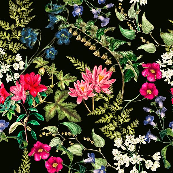 Hd Girl Wallpaper Print Botanical Floral Pattern On Behance