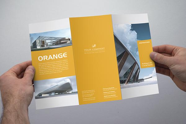 Modern tri fold flyer on Behance