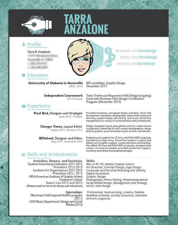 Cover Letter and CV on AIGA Member Gallery - cover letter graphic design