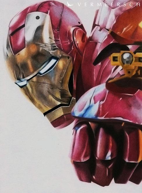 Cute Live Wallpaper App Iron Man Colour Drawing On Behance