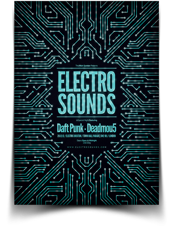 Electro Flyer / Poster on Behance - electro flyer