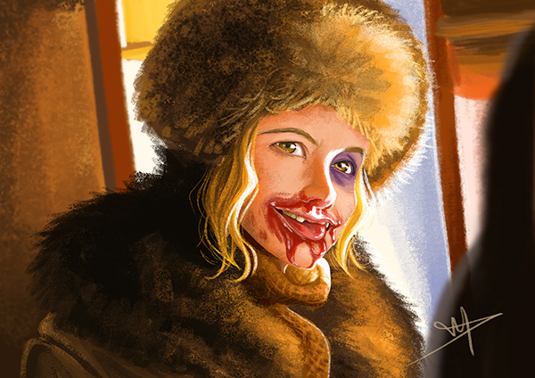 Filter Photoshop Daisy Domergue - The Hateful Eight On Behance