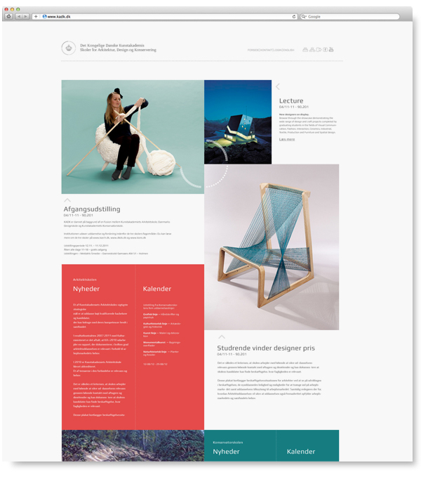 The Royal Danish Academy of Fine Arts - ADC on Behance - web flyer