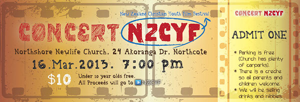 Poster and Ticket Design - \u0027Concert NZCYF\u0027 on Behance