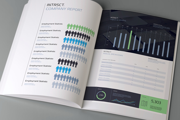 Intrsct on Behance - resume indesign template