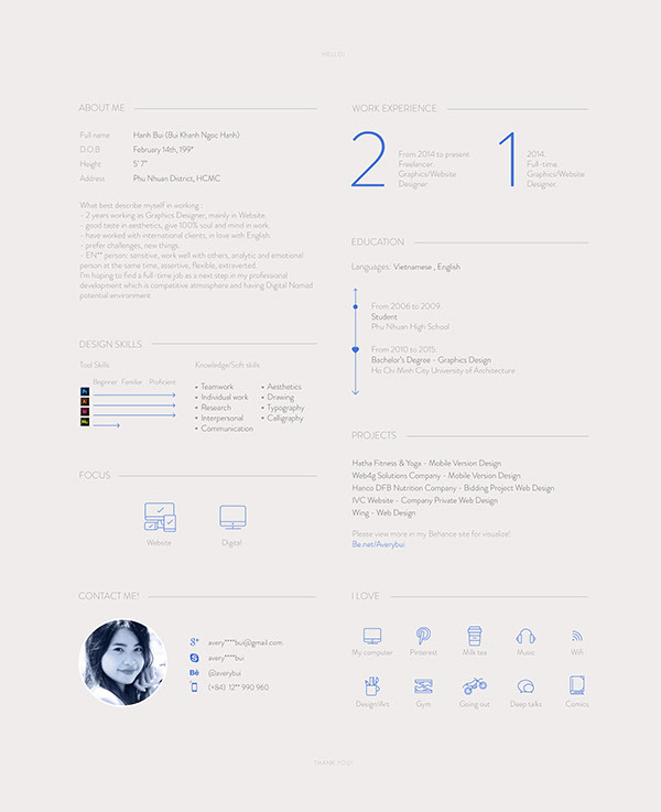 Layout Print Resume (updating) on Student Show