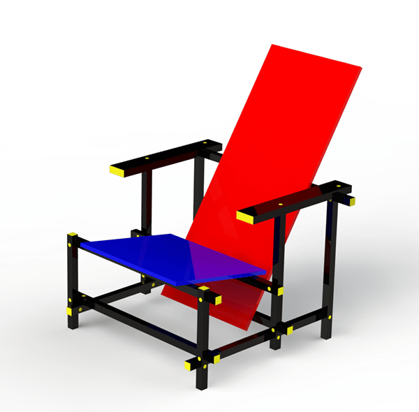 Rocking Chair Eames Red And Blue Chair On Wacom Gallery