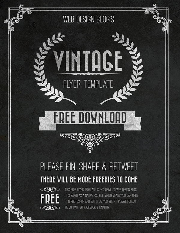 Free Vintage Flyer Template (Psd) on Behance