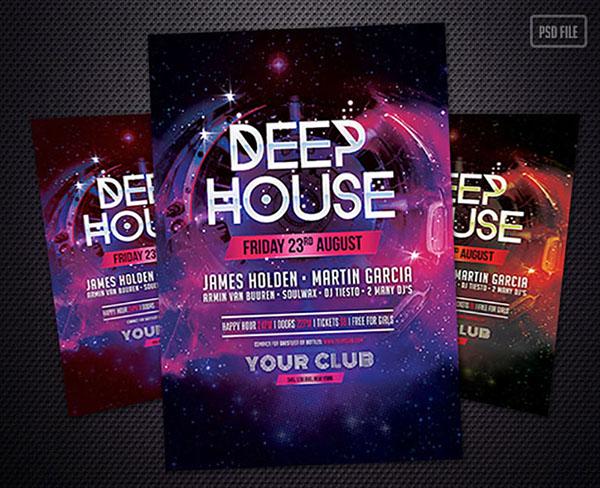Free Deep House Flyer Template on Behance