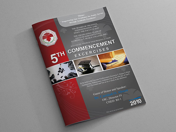 Graduation program covers on Behance - graduation program covers