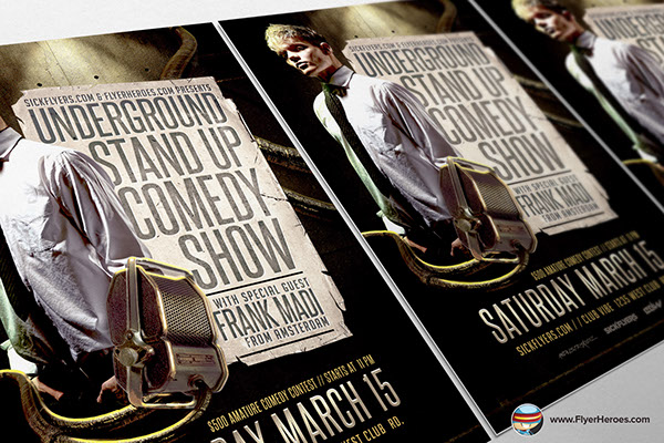 Comedy Show Flyer Template on Behance