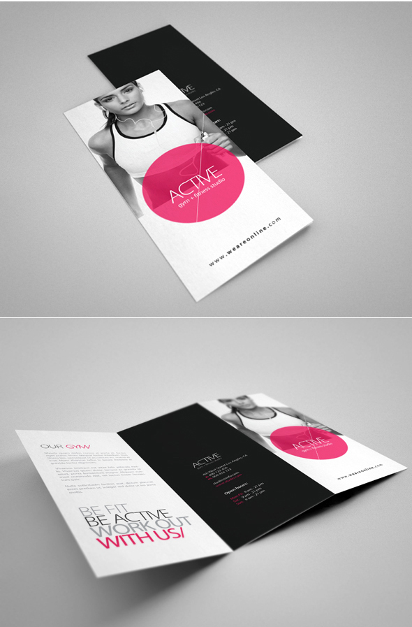 Fitness Brochure on Behance - Fitness Brochure