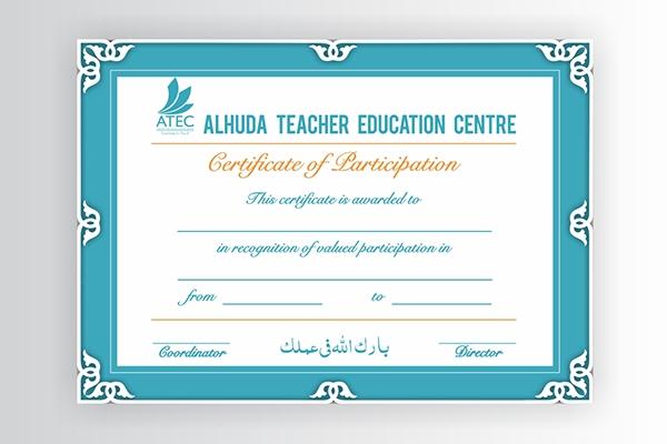 Certificate Teacher Training on Behance