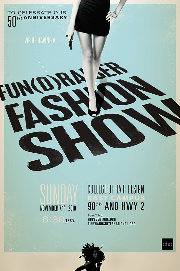 Fashion Show poster for College of Hair Design on Behance - fashion poster design