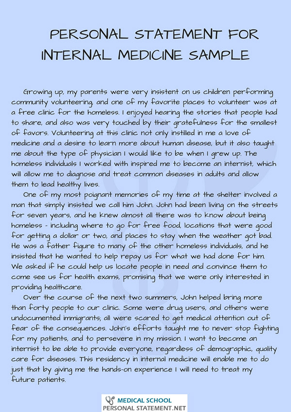 Personal Statement for Internal Medicine on Pantone Canvas Gallery