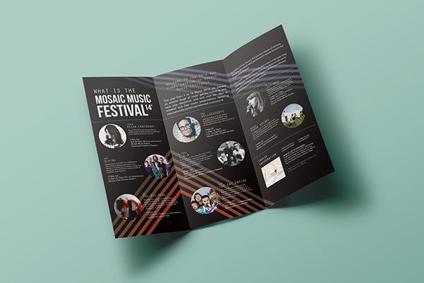 Mosaic Music Festival 14\u0027 Brochure + Ticket on Student Show