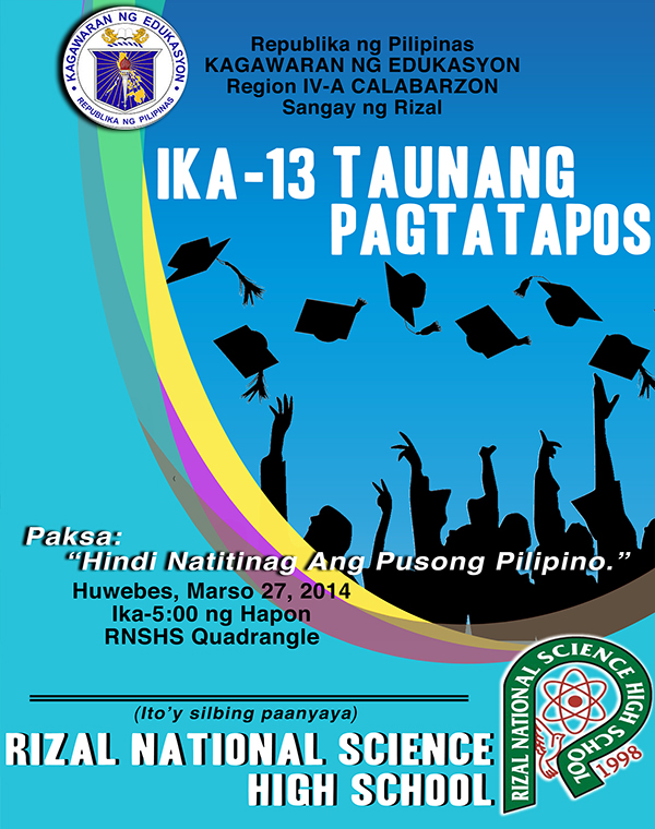 Graduation Program Cover Design 2014 - Batch 13 RNSHS on Student Show - graduation program covers