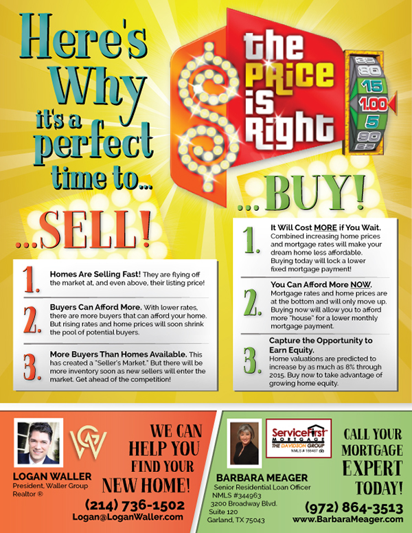 Price is Right Themed Double-Sided Flyers - Buy  Sell on Behance