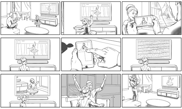 Commercial Storyboard Samples On Behance Commercial Storyboard Tvc