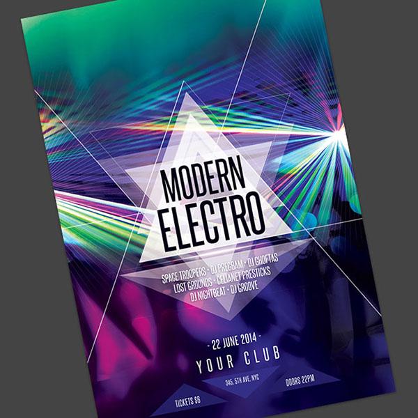 Modern Electro Flyer on Behance - electro flyer