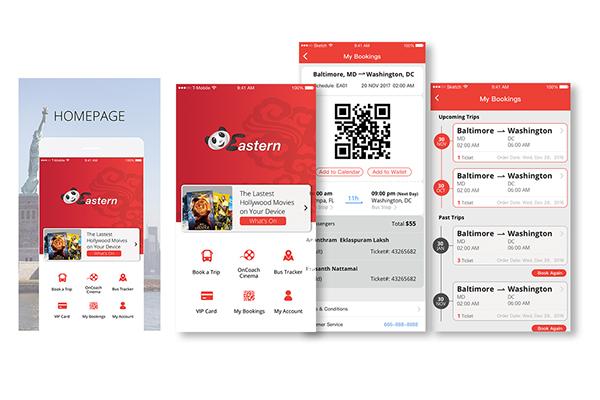 App UI Design on Corcoran Portfolios