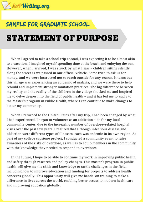 Sample Statement of Purpose for Graduate School on Pantone Canvas