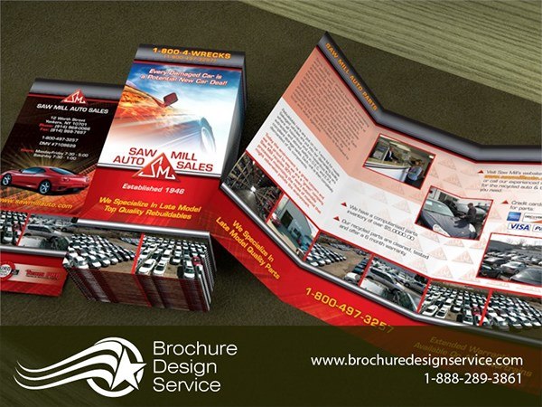 Brochure Design Samples for Auto Sales Company on Pantone Canvas Gallery