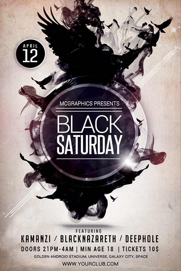 BLACK SATURDAY PSD FLYER TEMPLATE on Behance - black flyer template