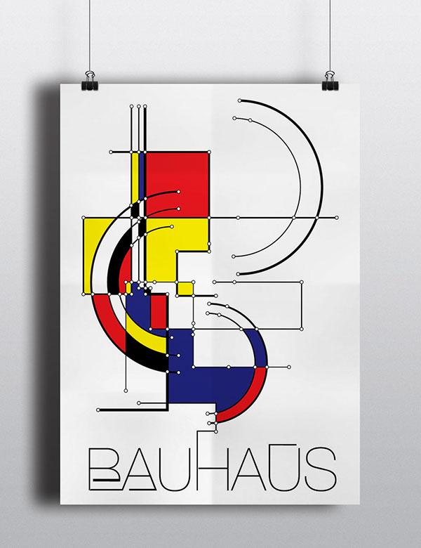 Bauhaus poster on Behance - poster on line