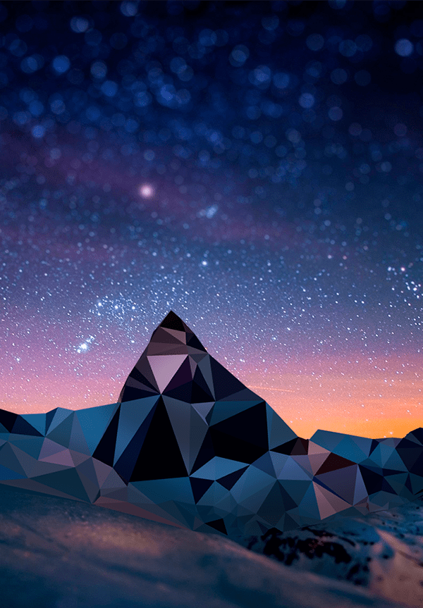 3d Wallpaper Samsung Note 3 Low Poly Mountains Personal Project On Behance