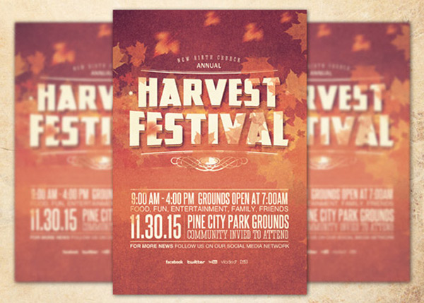 Harvest Festival Church Flyer Template on Behance