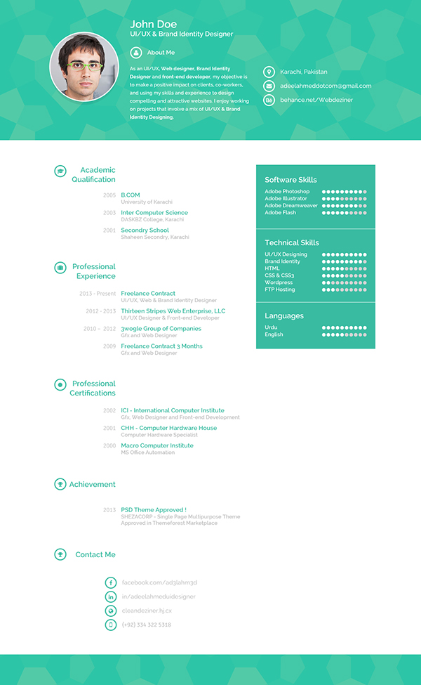 Creative Resume on Behance - sample creative resume