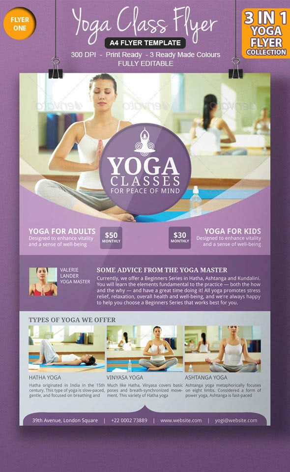 3 Awesome Yoga Flyer Template on Behance - yoga flyer