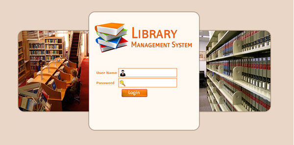 Library Management System on Behance