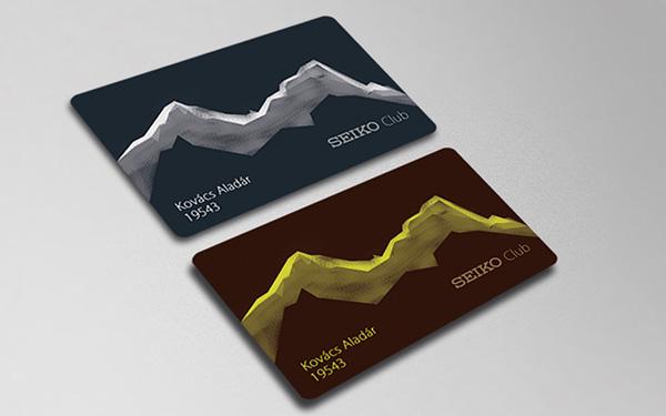 SEIKO Hungary Club Card Design Competition on Pantone Canvas Gallery - club card design