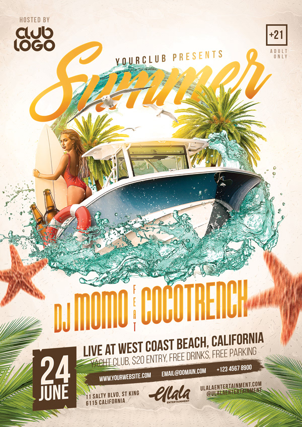 Summer Flyer Template on Student Show