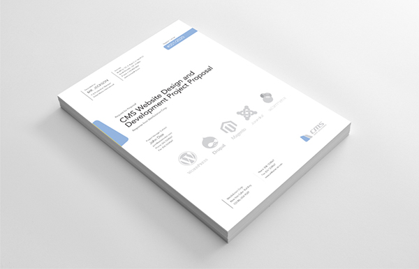 Clean and Professional CMS Website Project Proposal on Behance - professional project proposal