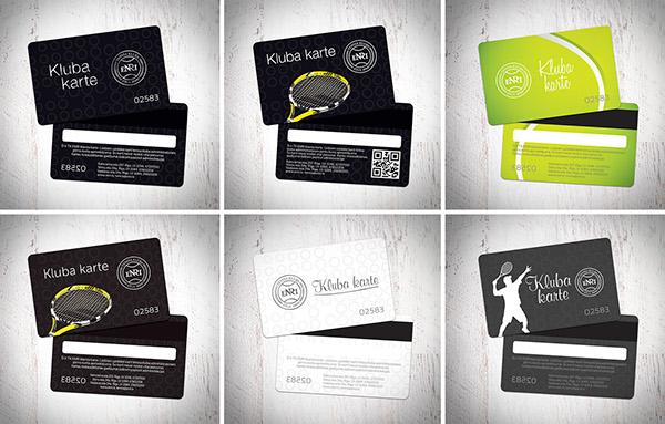 ENRI tennis club on Pantone Canvas Gallery - club card design