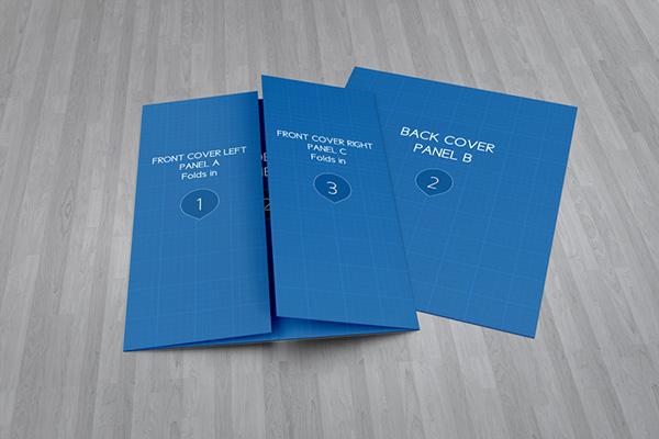 Gate Fold Brochure Mock-Up on Behance - gate fold brochure mockup