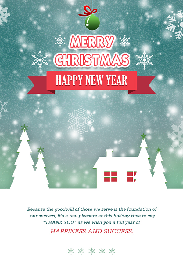 Create Merry Christmas email template for send wishes t on Behance - merry email template