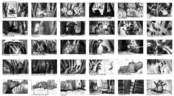 Storyboard sample on Student Show - photography storyboard sample
