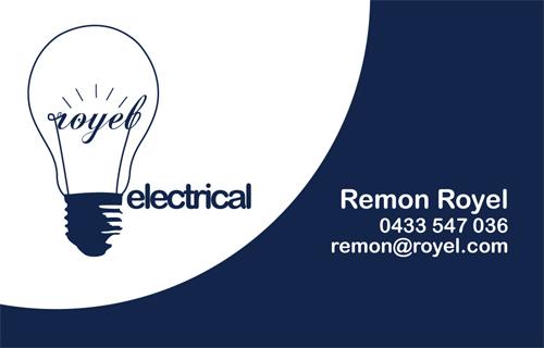 Royel electrical Identity on Behance